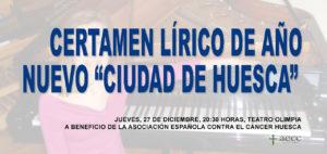 """CERTAMEN LÍRICO DE AÑO NUEVO """"CIUDAD DE HUESCA"""" @ TEATRO OLIMPIA"""